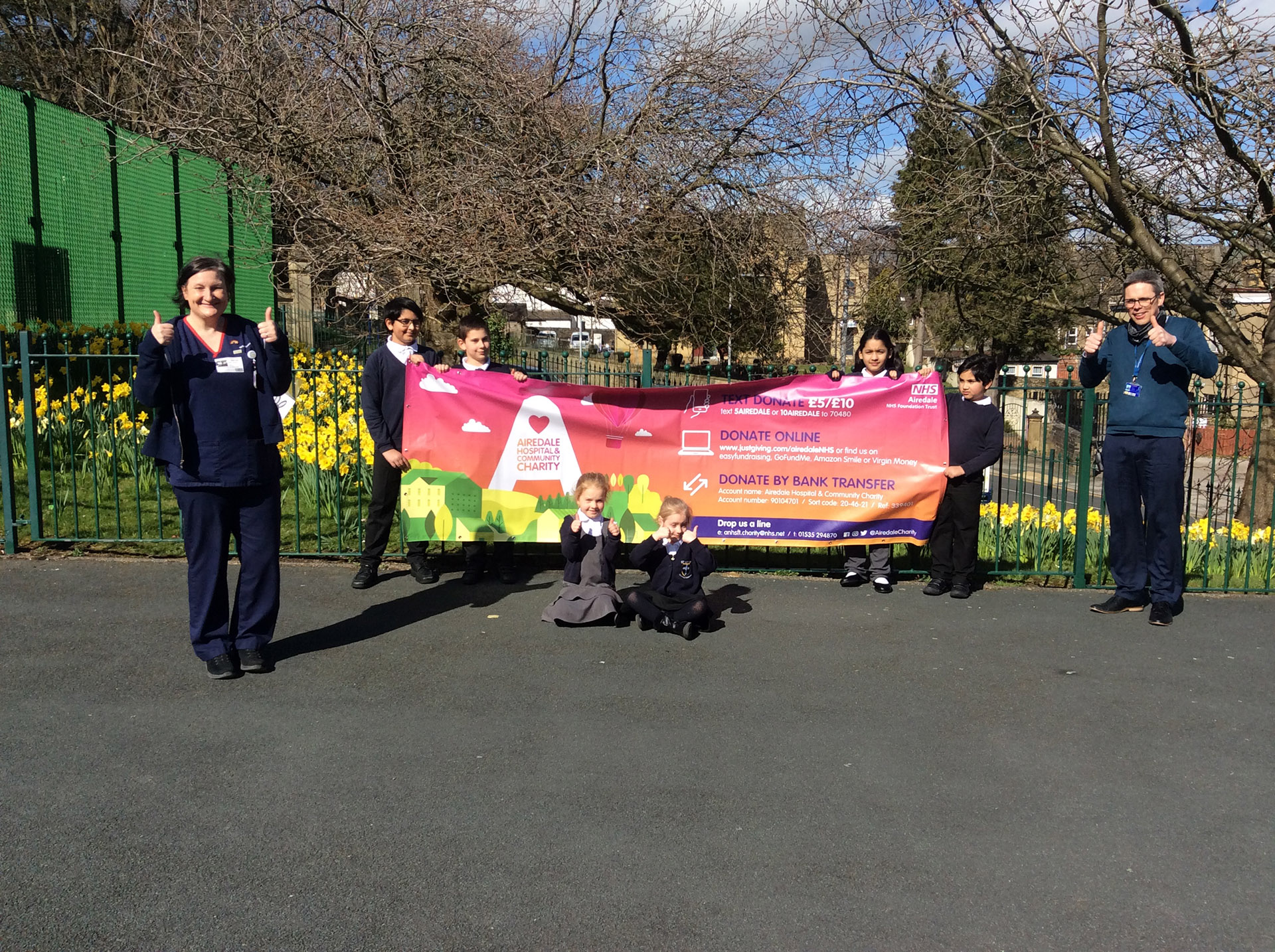 Students supporting the charity