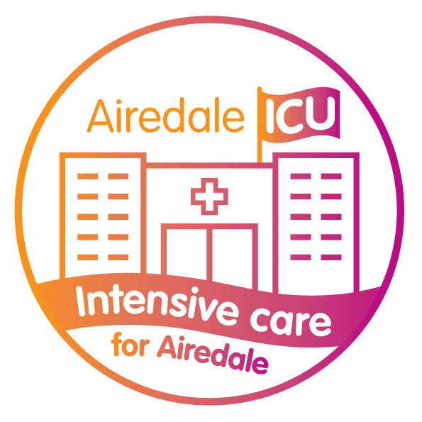 Logo for intensive care donate