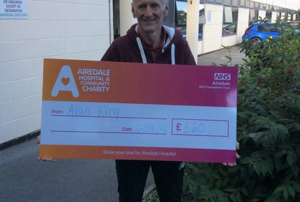 Alan King donating the money he raised