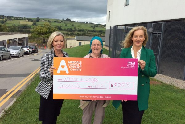 Wilman & Lodge estate agents raise £2325 for Airedale Charity